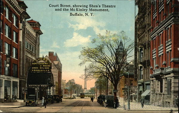 Court Street showing Shea's Theatre and the McKinley Monument Buffalo New York