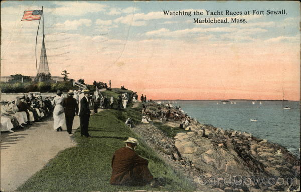 Watching the Yacht Races at Fort Sewall Marblehead Massachusetts