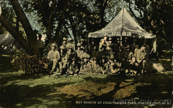Boy Scouts at Chautauqua Park Valley City North Dakota