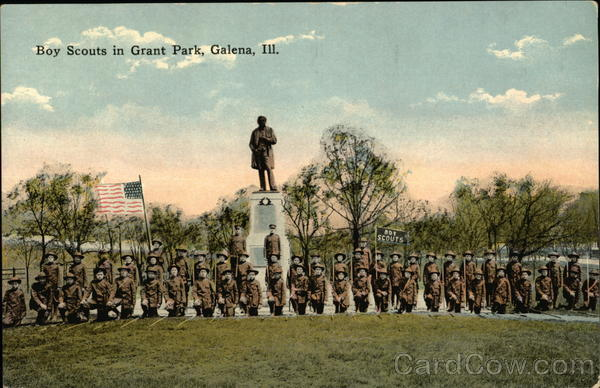 Boy Scouts in Grant Park Galena Illinois