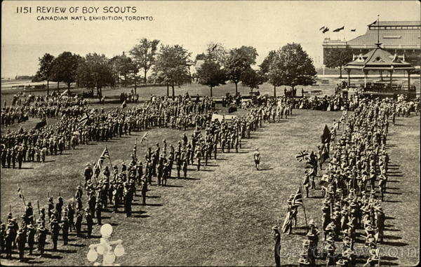Review of Boy Scouts, Canadian Nat'l Exhibition, Toronto Canada