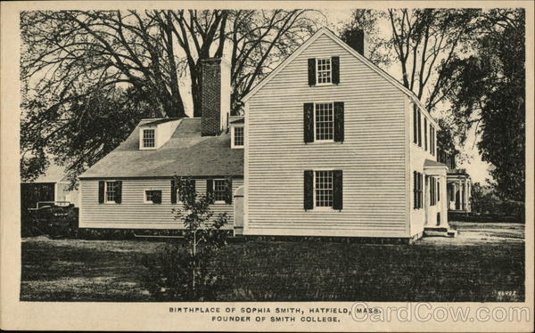 Birthplace of Sophia Smith, Founder of Smith College Hatfield Massachusetts