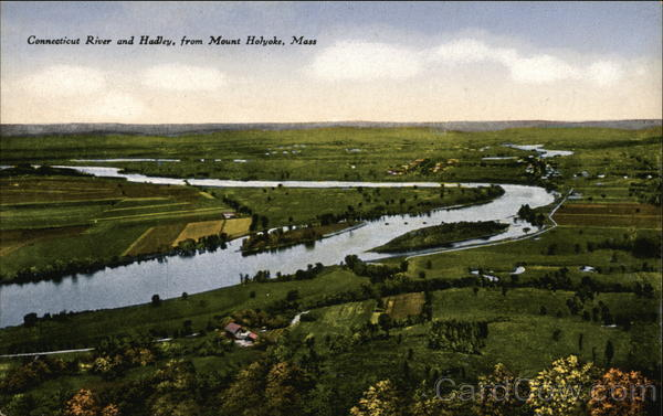 Connecticut River and Hadley from Mount Holyoke Massachusetts