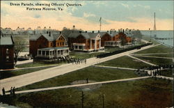 Dress Parade Showing Officers' Quarters