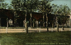 Jefferson Davis Casement inside Fort Monroe Postcard
