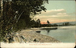 Scenic View of Sandy Beach, Lake Wentworth