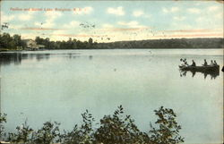 Pavilion and Sunset Lake Postcard