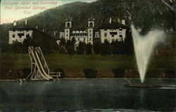 Colorado Hotel and Swimming Pool Postcard