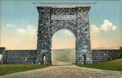 Stone Arch, Entrance to Yellowstone National Park