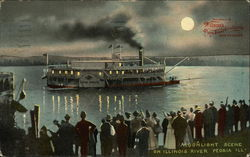 Moonlight Scene on Illinois River