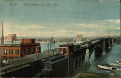 Bird's Eye View of Eads Bridge Postcard
