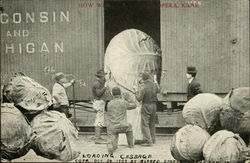 Loading Giant Cabbage Onto Rail Car