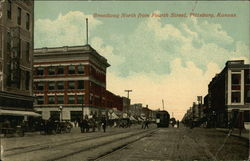 Broadway North from Fourth Street Postcard