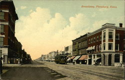 Street View of Broadway Postcard