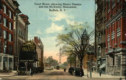 Court Street showing Shea's Theatre and the McKinley Monument