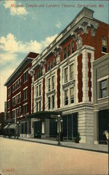 Masonic Temple and Landers Theatre Postcard