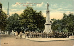 Boy Scouts and Soldier Monument Postcard