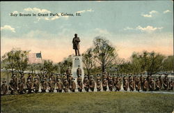 Boy Scouts in Grant Park Postcard