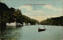 Crystal Lake, City Park Postcard