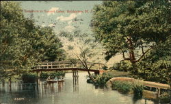 Entrance to Sunset Lake Postcard