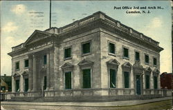 Post Office, 3rd and Arch Street Postcard