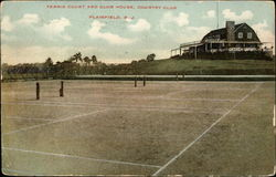 Tennis court and Club House, Country Club