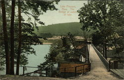 The bridge at outlet of lake