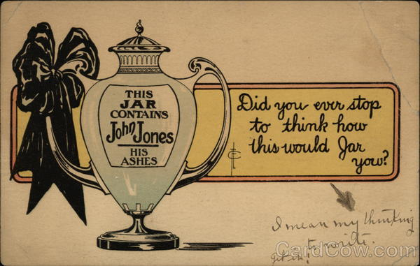 This Jar Contains John Jones, His Ashes Comic, Funny