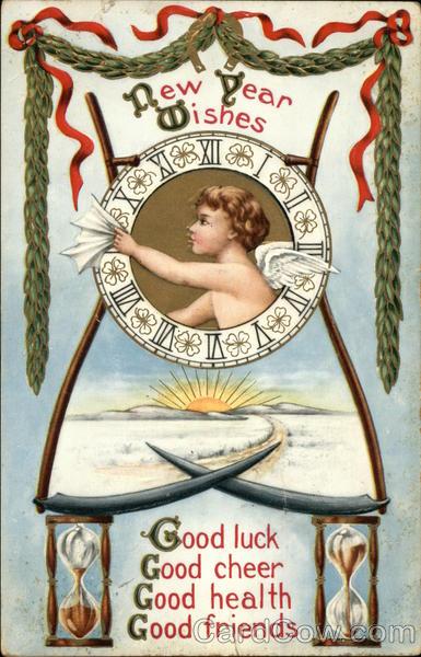 New Year Wishes, Good Luck, Good Cheer, Good Health, Good ...