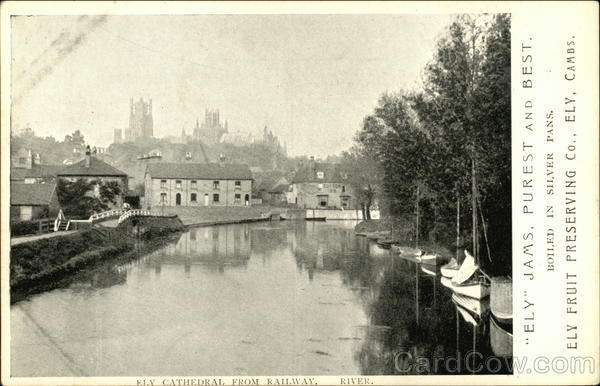 Ely Cathedral From Railway Advertising