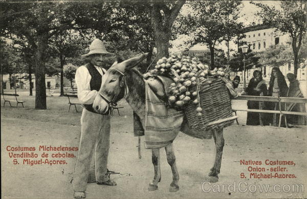 Natives Costumes, Onion Seller, S. Michael-Azores