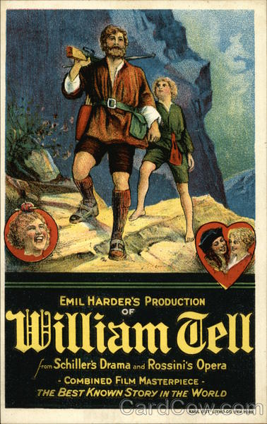 Emil Harder's Production of William Tell Advertising