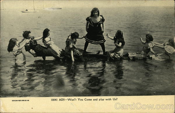 ADS - Won't you Come and Play With Us? Swimsuits & Pinup