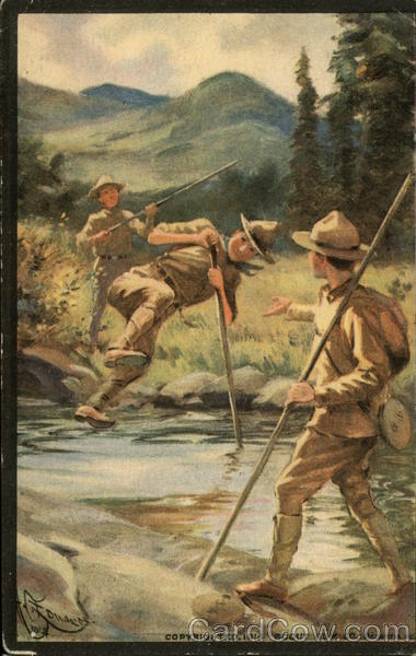 Boy Scouts: Vaulting a Stream