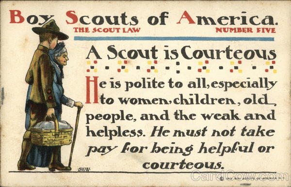 Boy Scouts of America, The Scout Law, A Scout is Courteous, He is Polite to all, Especially