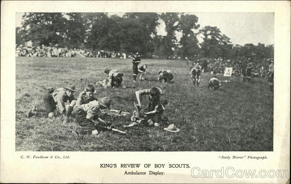 King's Review of Boy Scouts, Ambulance Display