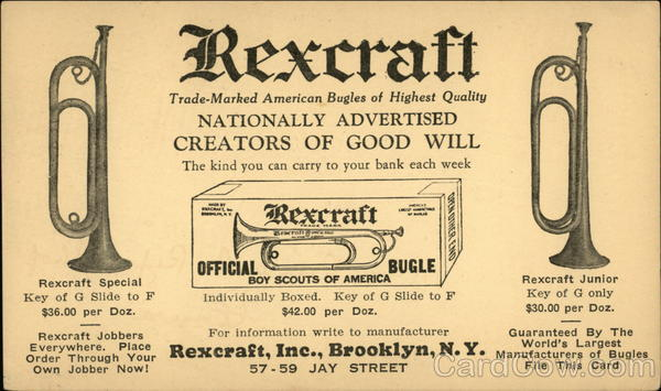 Rexcraft Trade-Marked American Bugles of Highest Quality