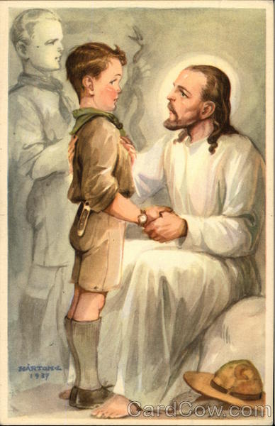 Boy Scout Speaking to Jesus Boy Scouts