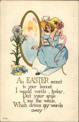 An Easter Sonnet to Your Bonnet, I Would Write Today, But Your Smile I see the While