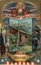 Fourth of July Greetings - With Revolutionary Headquarters Inset