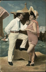 Portrait of Couple in Beach Scene