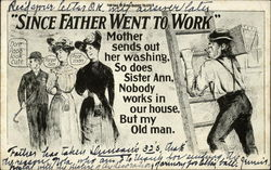 """Since Father Went to Work"" Mother Sends Out Her Washing, So Does Sister Ann"