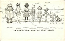 The Whole Dam Family at Coney Island