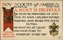 Boy Scouts of America, The Scout Law, Number Three, A Scout is Helpful