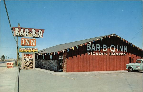 Bar-B-Q Inn - Featuring the Best Hickory Smoked Barbeque & Charcoal Broiled Steaks Albuquerque New Mexico