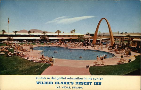 Guest in Delightful Relaxation in the Sun at Wilbur Clark's Desert Inn Las Vegas Nevada