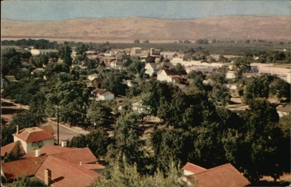 Bird's Eye View of Residential Community Morgan Hill California