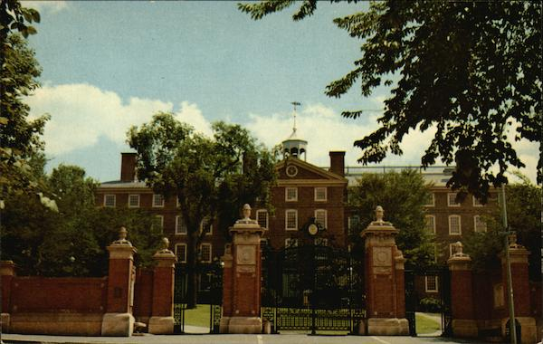University Hall and Van Wickle Gates - Brown University Providence Rhode Island
