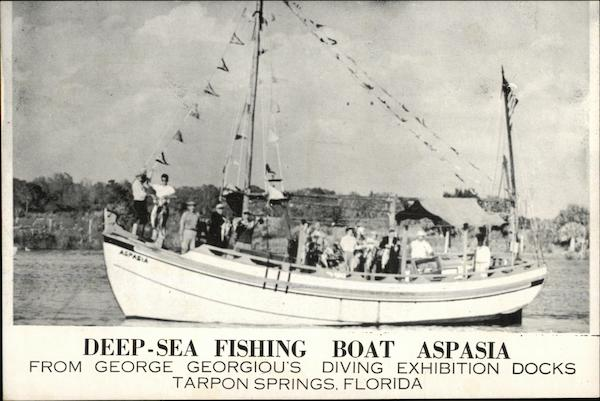 Deep-Sea Fishing Boat Aspasia Tarpon Springs Florida
