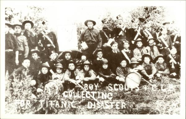Brightlingsea Boy Scouts Collecting for Titanic Disaster